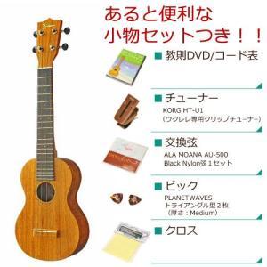 Famous フェイマス / FLS-2G (ロングNECK)(あると便利な小物セットつき ) ソプラノ ウクレレ FLS2G(お取り寄せ商品)(送料無料)|ishibashi