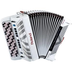 幅広い演奏シーンに対応する中型Vアコーディオン(ボタン鍵盤タイプ) FR-3Xbは中型クラスのサイズ...