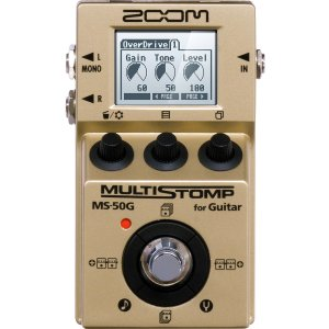 ZOOM / MS-50G-I MultiStomp Guitar Pedal Gold Limited (限定生産モデル)(在庫有り)(WEBSHOP)|ishibashi