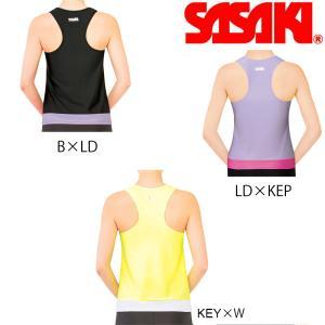 2020年 SASAKI ササキスポーツ Yバックトップ(ルーズFIT・カップポケット付き)(7048) メール便可能 新体操 エクササイズ ストレッチ 吸汗 速乾 トリノクール