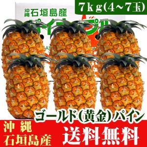 石垣島産パイナップル「ゴールドパイン」7kg(4〜8玉) 送料無料|ishigakijimanoukatai