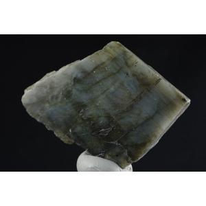 ラブラドライト 原石 一面磨き 90g|ishino-hana