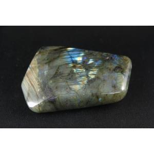 ラブラドライト 原石 一面磨き 59g|ishino-hana