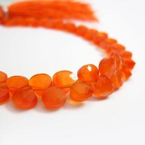 オレンジカルセドニーAAA平マロンカット約5.5×5.5mm 1粒売り |ishino-kura