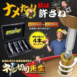 ネジ切り先生 なめたボルト 簡単 取り外す DIY 工具 家具 電子機器 ドライバー 鉄 銅 六角 便利グッズ なめたネジはずしビット DZ-1500|ishino7