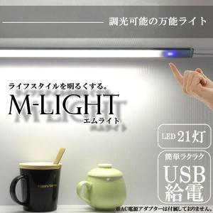 エム ライト LED センサー スイッチ USB 設置 電気 PC パソコン 書斎 インテリア ショーケース ET-LD4000