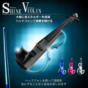 LED搭載 エレクトリック バイオリン ヘッドフォン イベント 初心者 ET-LEDSAIB