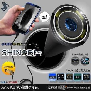 忍びカム スコープ フレキシブルカメラ 忍者カム パソコン PC アンドロイド 防水 LED4灯 高性能 録画 写真 スコープ 撮影 レンズ10mm ET-HT-USB