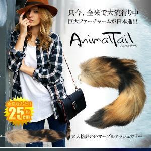 ファー キーホルダー バッグ カバン アニマルテール 25cm 全米 大流行り  尻尾 動物 巨大 ファッション マスト 女性 男性 CM-ANIMALTEL|ishino7