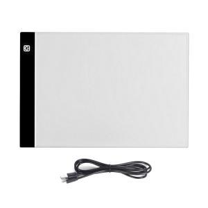 光る 芸術 ボード A4サイズ トレース台 ライトテーブル 薄型5mm LED 3段階調光 USBコード付き 複写 絵画 デッサン 製図 GEIBOU-A4 ishino7