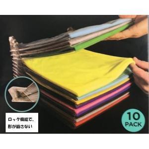 Ezstax整理整頓、形が崩さない、折りたたみ洋服収納ボード 衣類 収納 棚 ケース 仕切り 10枚組の写真