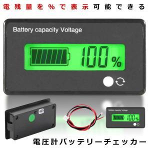 電圧計バッテリーチェッカー 直流 12 24 36 48V シェル付き 自動車用 BATCHEE