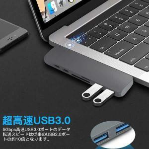 Type C ハブ 3.1 7in1 Macbook Pro 13/15インチ用 MacBook A...