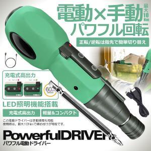 USB充電式 電動ドライバー ドリル 小型 強力 軽量 コードレス 大容量電池 ビット LEDライト付き USBケーブル DIY 工具 PDOFULL ishino7
