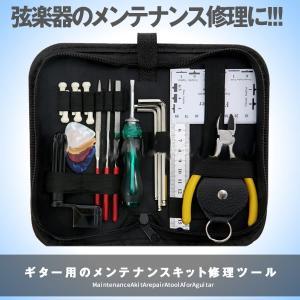 ギター修理 メンテナンス セット ツールキット ギターウクレレベース用 ニッパー 六角レンチ 測定ツ...
