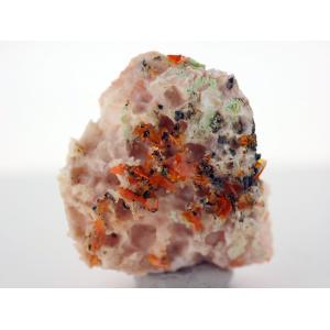 モリブデン鉛鉱 バライト共生 - ウルフェナイト 水鉛鉛鉱 重晶石|ishinomise