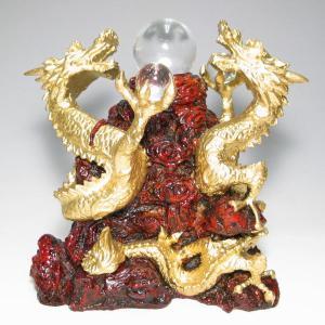 特価水晶丸玉3個付き 金龍丸玉台座(天然石・パワーストーン・縁起もの)|ishiya