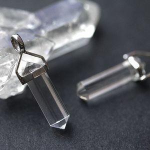 水晶:ダブルポイント:20mm:ペンダントトップ(天然石・パワーストーン・癒し・浄化)|ishiya