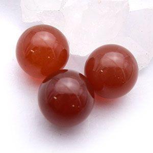 赤めのう:丸玉:12mm(天然石・パワーストーン)|ishiya