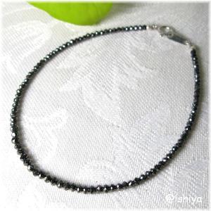 ブラックダイヤモンドブレスレット(K18WG)(天然石・パワーストーン・一点もの・送料無料)|ishiya