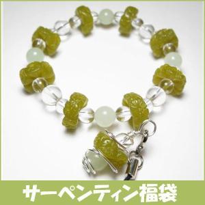特価サーペンティン福袋 フラワーブレスレット+ストラップ(天然石・パワーストーン) ishiya