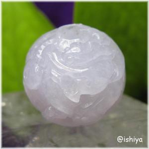 本翡翠(ミャンマー産)ドラゴン(龍神)彫り ビーズ 17mm(天然石・パワーストーン・一点もの・送料無料)|ishiya