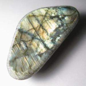 ラブラドライト:一面磨き:マダガスカル産(10)(天然石・パワーストーン・幸運)