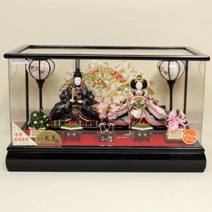 【久月】雛人形 親王アクリルケース飾り ishizaki
