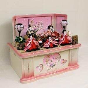 【久月】ひな人形 衣裳着収納五人飾り「よろこび雛」|ishizaki|02