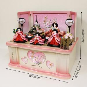 【久月】ひな人形 衣裳着収納五人飾り「よろこび雛」|ishizaki|03
