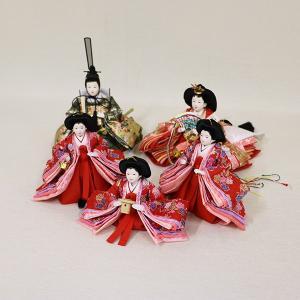 【久月】ひな人形 衣裳着収納五人飾り「よろこび雛」|ishizaki|05