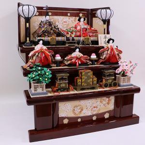 【千匠】雛人形 衣装着三段五人飾り「平安雛」 ishizaki 02