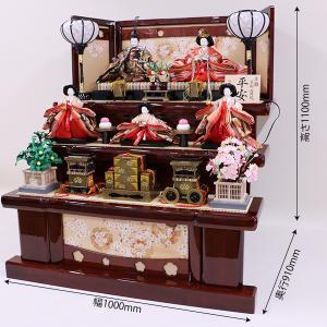 【千匠】雛人形 衣装着三段五人飾り「平安雛」 ishizaki 03
