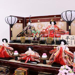【千匠】雛人形 衣装着三段五人飾り「平安雛」 ishizaki 05