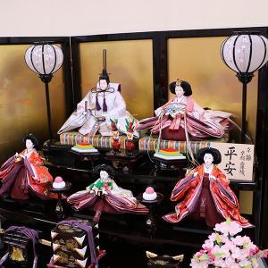 【千匠】雛人形 衣装着三段五人飾り 落とし屏風飾り「平安雛」|ishizaki|04