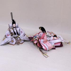 【千匠】雛人形 衣装着三段五人飾り 落とし屏風飾り「平安雛」|ishizaki|05