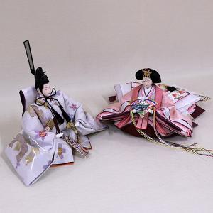 【千匠】雛人形 衣装着三段五人飾り 落とし屏風飾り「平安雛」|ishizaki|06