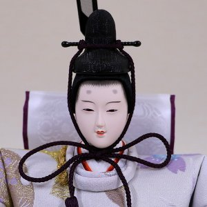 【千匠】雛人形 衣装着三段五人飾り 落とし屏風飾り「平安雛」|ishizaki|07