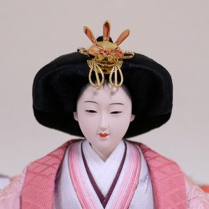 【千匠】雛人形 衣装着三段五人飾り 落とし屏風飾り「平安雛」|ishizaki|08