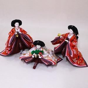 【千匠】雛人形 衣装着三段五人飾り 落とし屏風飾り「平安雛」|ishizaki|09