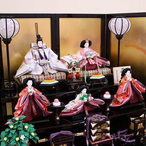 【千匠】雛人形 衣装着三段五人飾り 落とし屏風飾り「平安雛」|ishizaki|10