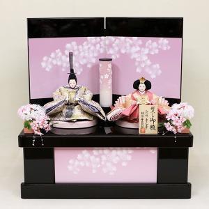 【東玉】雛人形 東之華 コンパクト収納飾り 「桜の彩」|ishizaki