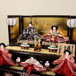 【久月】ひな人形 コンパクト収納三段五人飾り 束帯十二単姿新王官女飾り「よろこび雛」|ishizaki|11