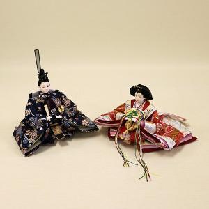 【久月】ひな人形 コンパクト収納三段五人飾り 束帯十二単姿新王官女飾り「よろこび雛」|ishizaki|03