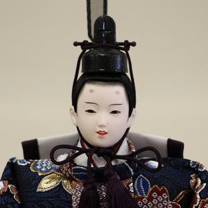 【久月】ひな人形 コンパクト収納三段五人飾り 束帯十二単姿新王官女飾り「よろこび雛」|ishizaki|04