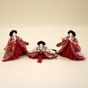 【久月】ひな人形 コンパクト収納三段五人飾り 束帯十二単姿新王官女飾り「よろこび雛」|ishizaki|06