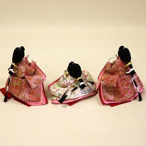 【久月】ひな人形 コンパクト収納三段五人飾り 束帯十二単姿新王官女飾り「よろこび雛」|ishizaki|08