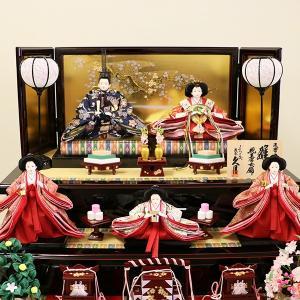 【久月】ひな人形 コンパクト収納三段五人飾り 束帯十二単姿新王官女飾り「よろこび雛」|ishizaki|10