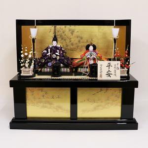 【千匠】雛人形 京都西陣織衣裳着 収納親王飾り 「平安」|ishizaki