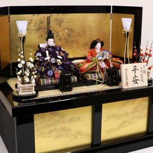 【千匠】雛人形 京都西陣織衣裳着 収納親王飾り 「平安」|ishizaki|03
